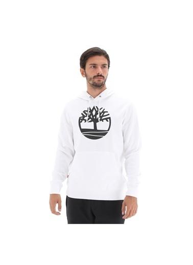 Timberland YC Core Tree Logo Pull Over hoodie (Bru TBL TB0A2BJHP541White-BlM        Beyaz